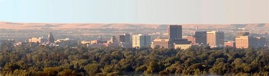 Boise Idaho on an August Morning